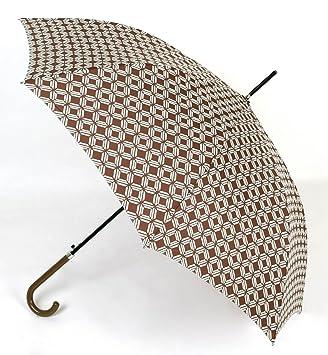 73b9575aa79 Paraguas Mujer Estampado Color Marrón. Paraguas Largo Vogue  Amazon.es   Equipaje