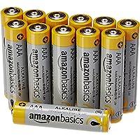 AmazonBasics - Pilas alcalinas AAA 'Performance' (Paquete de 12) - Diseño variable