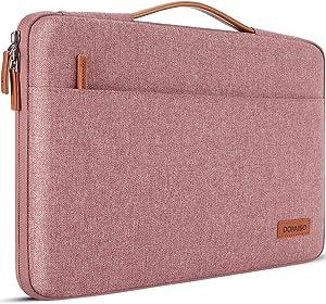 DOMISO 13 Inch Laptop Sleeve Canvas Notebook Portable Carrying Bag Case Handbag for 13