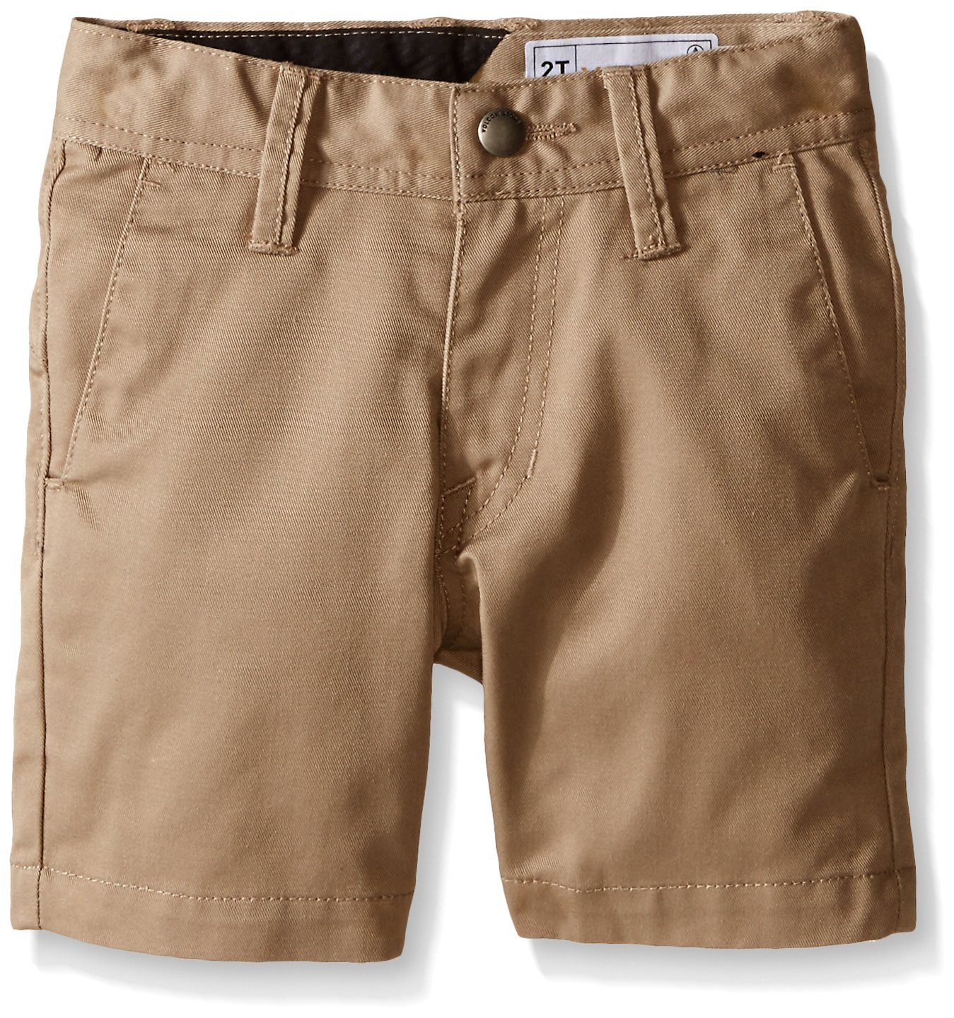 Volcom Baby Little Boys' Frickin Cotton Twill Chino Short, Khaki, 7X