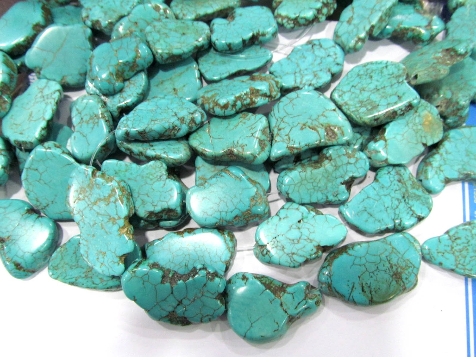 Turquoise Stone Slab Freeform green Blue white Turquoise beads blue Magnestie Slabs Turquoise Loose beads 20-40mm 16inch full strand