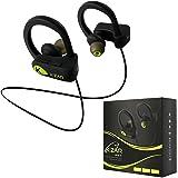 K-ZAR Écouteur Bluetooth Sport Oreillettes Sans Fil Intra Auriculaires IPX7 Etanche Casque Stéréo avec Mic HD Réduction Bruit Headphone Mains-libres - Noir