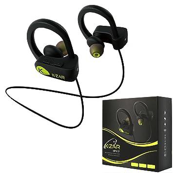 K-ZAR Écouteur Bluetooth Sport IPX7 Etanche
