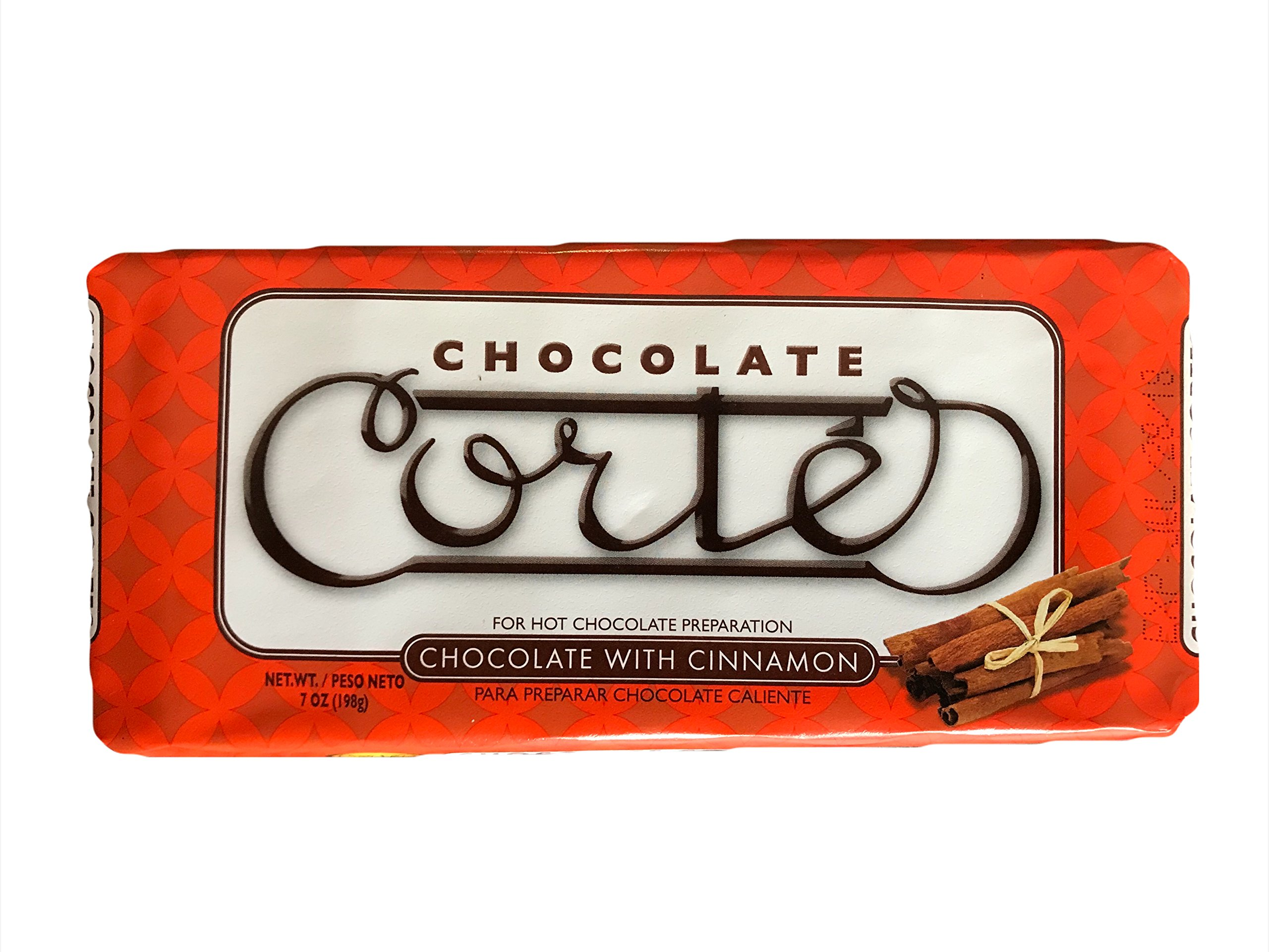 Cortes Chocolate with Cinnamon for Hot Chocolate Preparation - 7 oz Bar (Count of 3