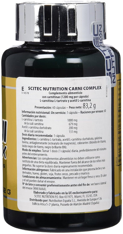 Amazon.com: Carni complex - 60 capsules - Scitec nutrition: Health & Personal Care