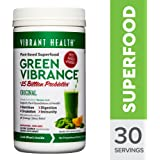 Vibrant Health - Green Vibrance, Plant-based Daily Superfood + Protein and Antioxidants, 30 Servings