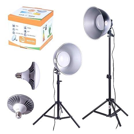 Juego de 2 Bombillas LED para Estudio fotográfico, luz Diurna, Caja de luz para