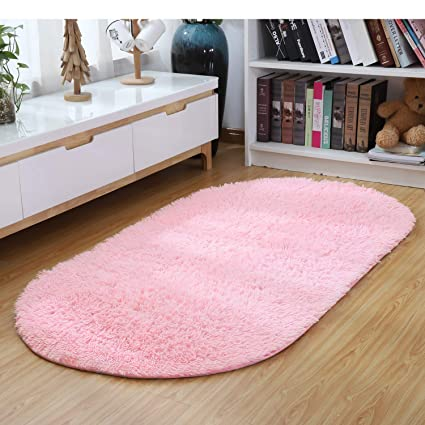 Amazon Com Junovo Oval Fluffy Ultra Soft Rugs Modern Plush Area