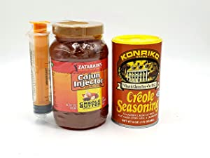 Cajun Injector Turkey Frying Spice Kit Creole Butter with Injector and Konriko Creole Seasoning