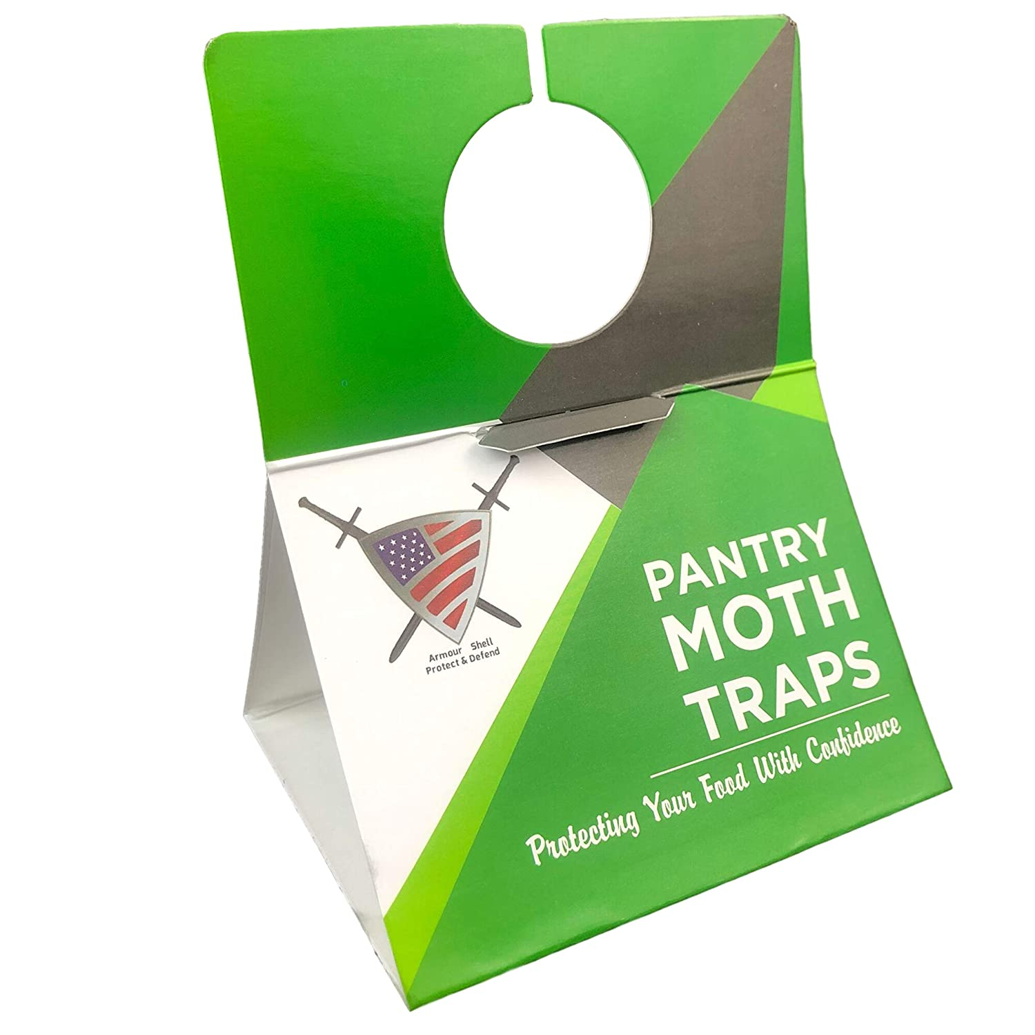 Pantry Moth Traps with Pheromones - Pest Trap for Kitchen Closet, Eco Friendly Moth Repellent Killer 6 Pack with Unique Hanging Design Non Toxic Formula That is Safe for Your Family and Long Lasting.