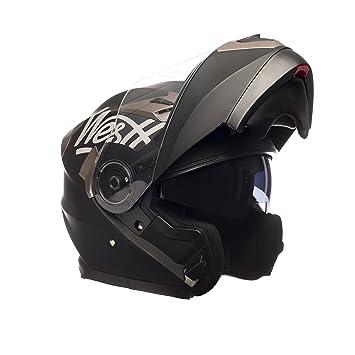Westt® Torque-X · Casco Moto Modular Negro Mate Incluye Gafas de Sol (
