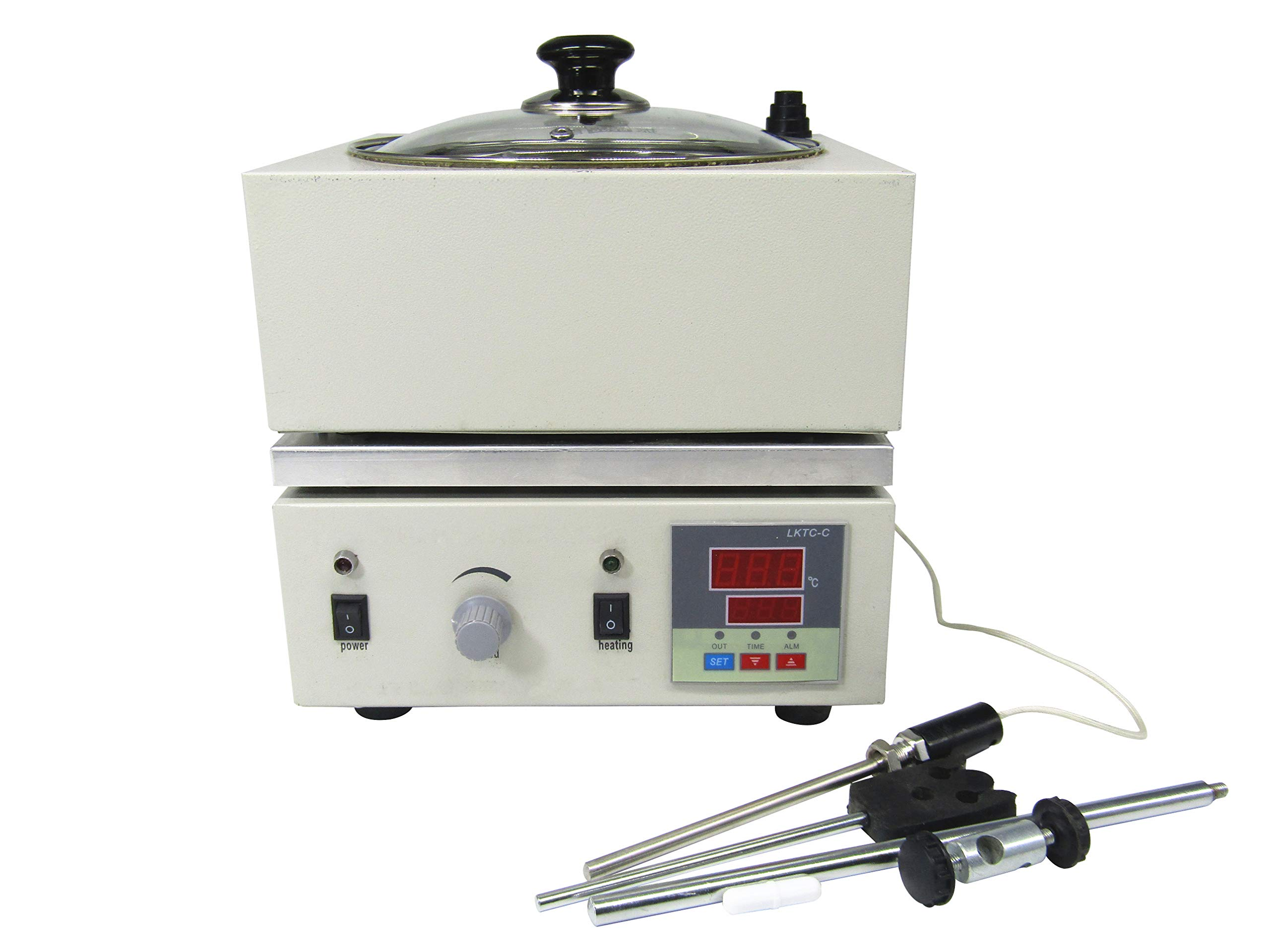 YUCHENGTECH Digital Magnetic Stirrer Mixer Water Oil Bath Heat-gathering Thermostat 300°C 2000ML (110V) by YUCHENGTECH (Image #5)
