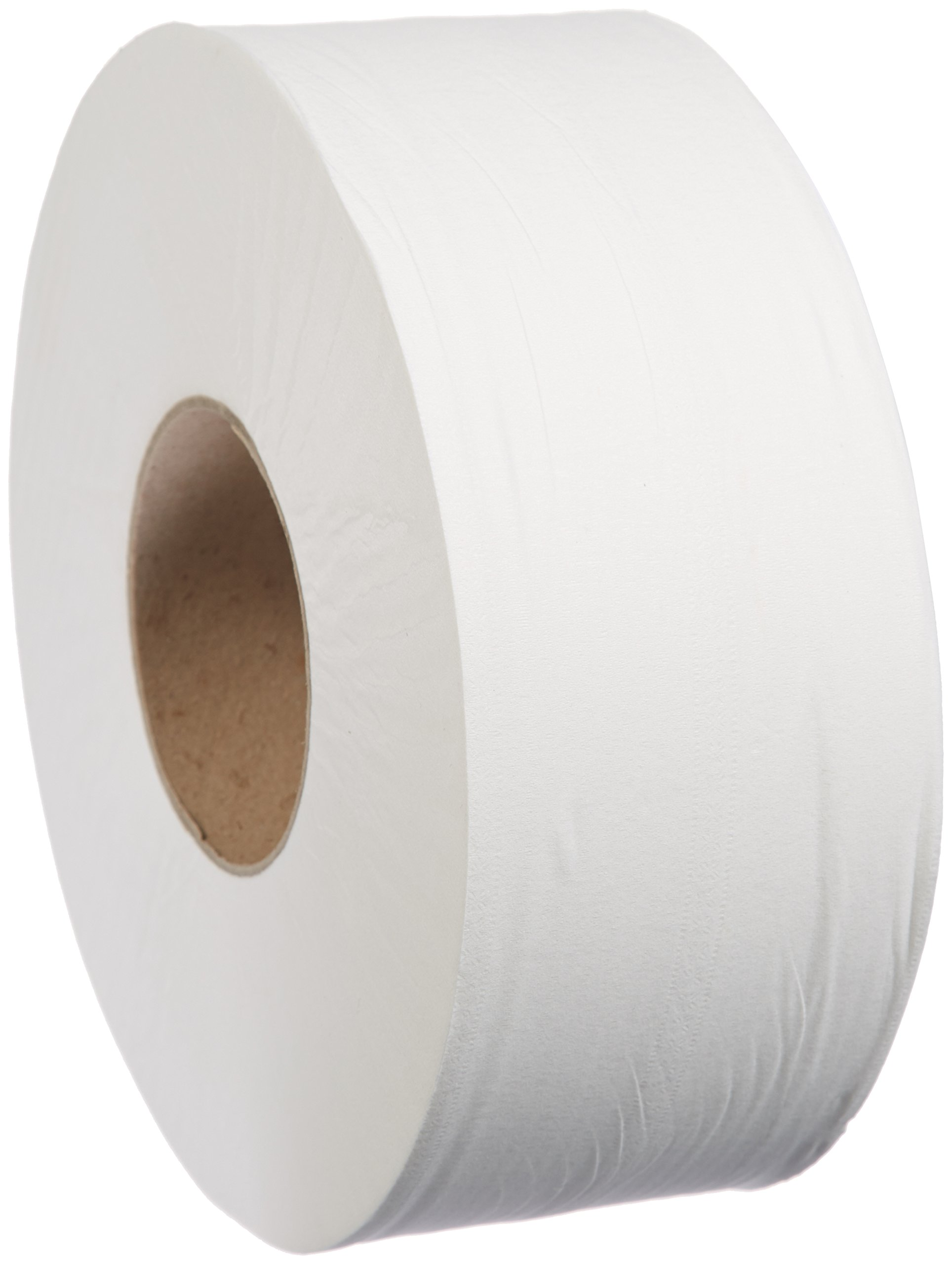 AmazonBasics Professional Jumbo Roll Toilet Tissue for Businesses, 2-Ply, 800 Feet per Roll, 12 Rolls by AmazonBasics (Image #1)