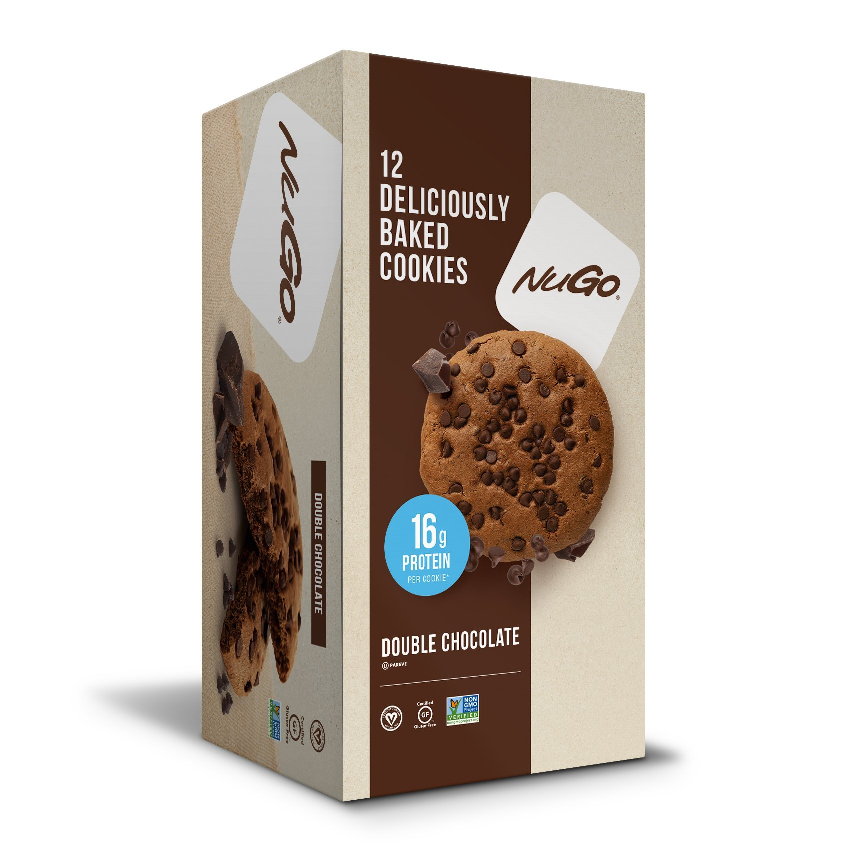 NuGo Protein Cookie, Double Chocolate, 16g Vegan Protein, Gluten Free, Soy Free, 12 Count by NuGo (Image #3)