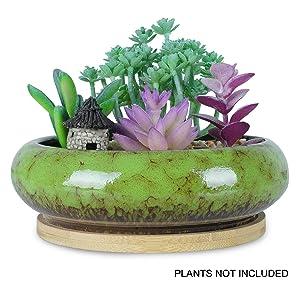Artketty Round Succulent Planter Pots