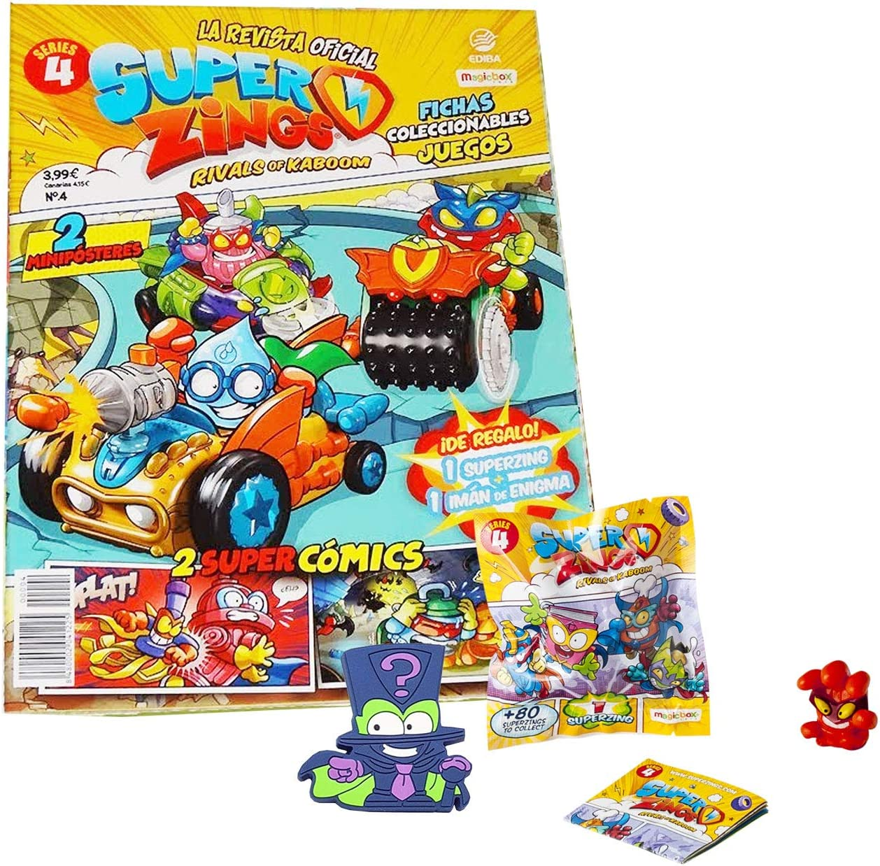 Rivals of Kaboom Superzings Serie 4 Superzings Revista Oficial Pack Exclusivo: Amazon.es: Juguetes y juegos