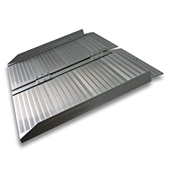Rampa corta de 62cm para un escalón 270kg Aluminio Portátil Plana Minusválidos Acceso Sin barreras