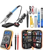 ETEPON Soldering Iron Kit ON/Off Switch Solder Iron Set Electronic Adjustable Temperature Welding Kit