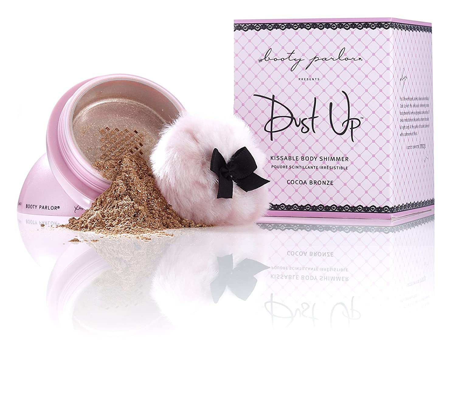 Booty Parlor Dust Up Kissable Body Shimmer Dusting Powder - Cocoa Bronze Inc CMC-0025 CB