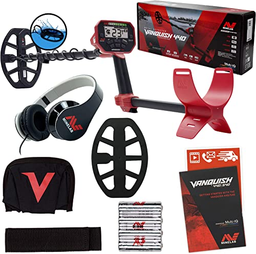 Minelab Vanquish 440 Metal Detector with V10 10 x 7 Double-D Waterproof Coil