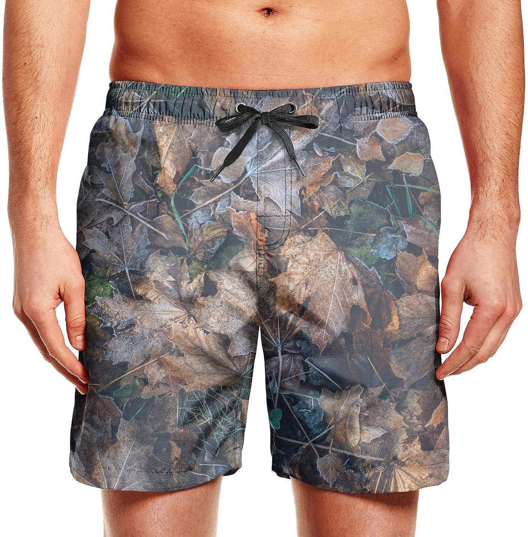 Military Camo Camouflage Texture Mens Swimming Shorts Vintage Swim Trunks Drawstring Beach Shorts Swimwear for Men