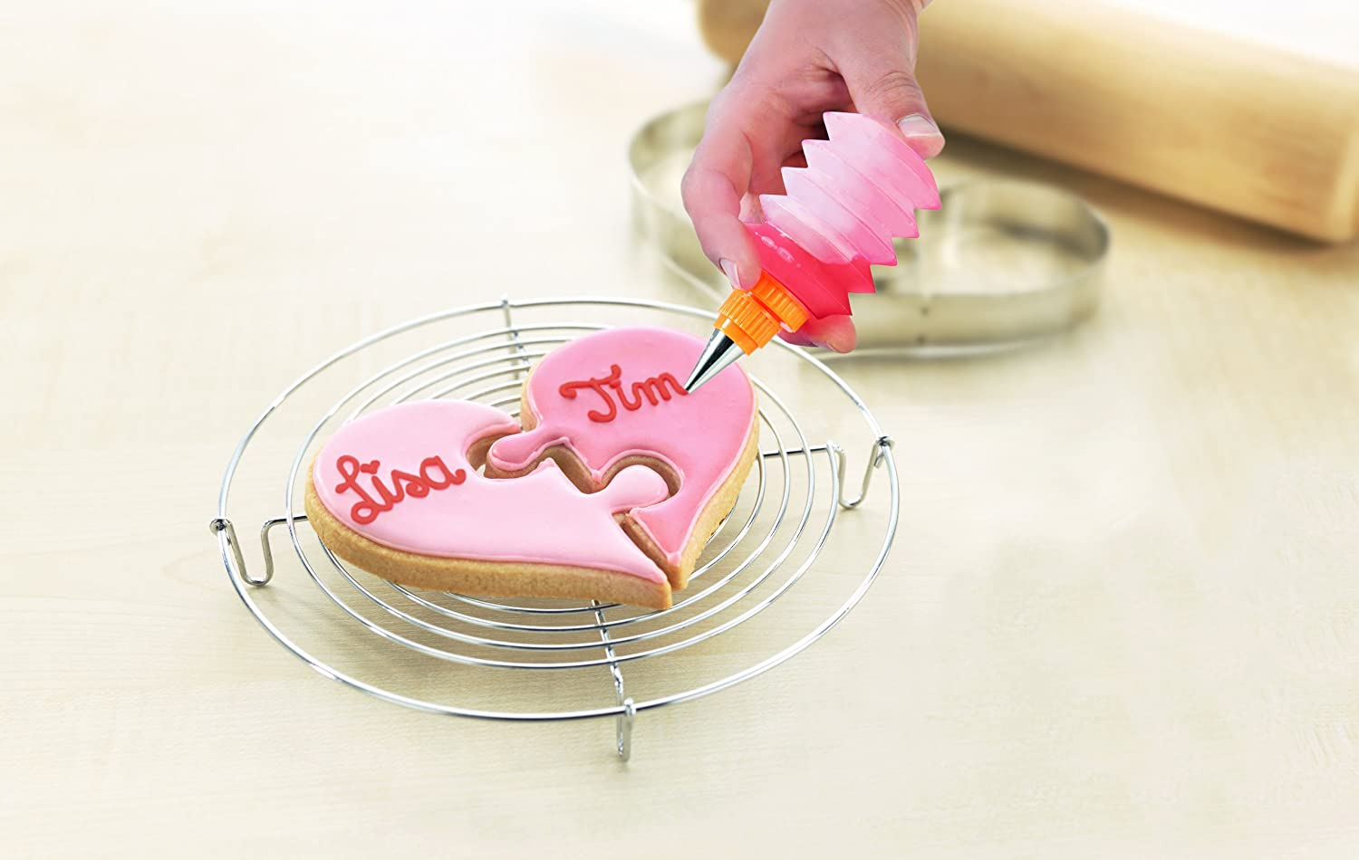 Amazon.com: Birkmann Valentine Heart Shaped Cookie for Two Cutters ...