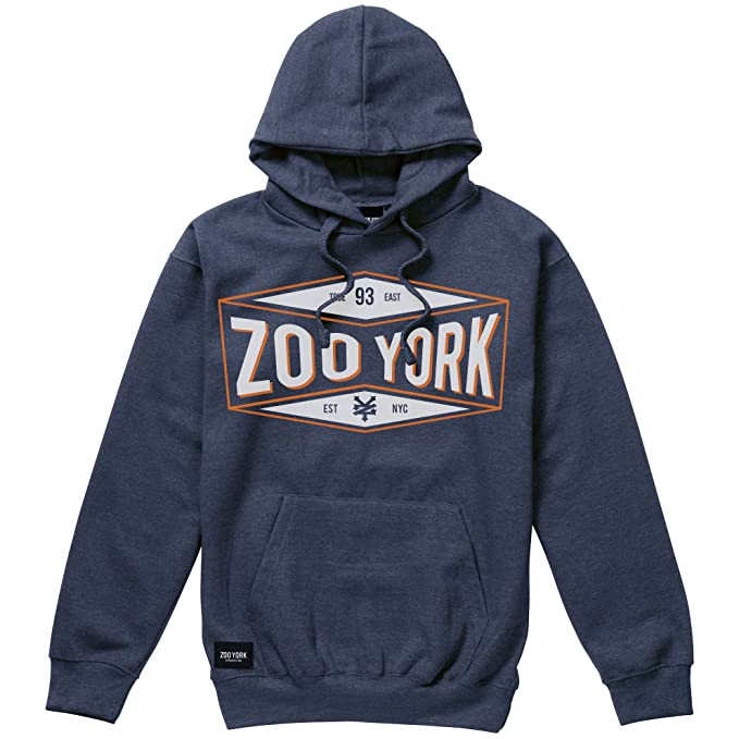 Concave, Sudadera con Capucha para Hombre, Blue (Denim Blue Heather Dmh), X-Large Zoo York