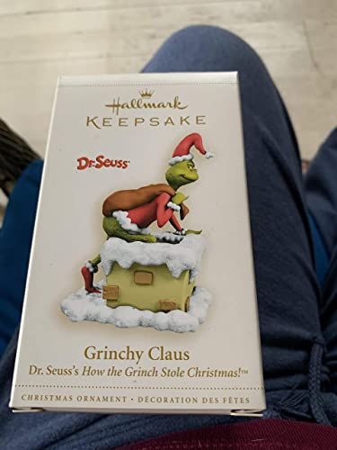 GRINCHY CLAUS DR. SEUESS HOW THE GRINCH STOLE CHRISTMAS HALLMARK 2006 RARE