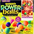 Made By Me Glow The Dark Powerballs by Horizon Group USA, DIY STEM Kit. Make 18 Bouncy Crystal Power Balls, Molds and Instructions Included,Multicolored