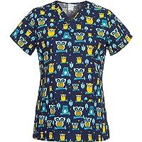 DINOZAVR Bambina Uniforme Sanitario Camisa Médica con Cuello