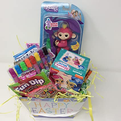 Amazon happy easter basket kids toddlers filled unique stuffers happy easter basket kids toddlers filled unique stuffers themed prefilled gift children pre made eggs goodie negle Gallery