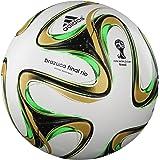Brazuca Finale Rio Officiel - Ballon de Match de Foot Blanc/Noir/Or Métallisé