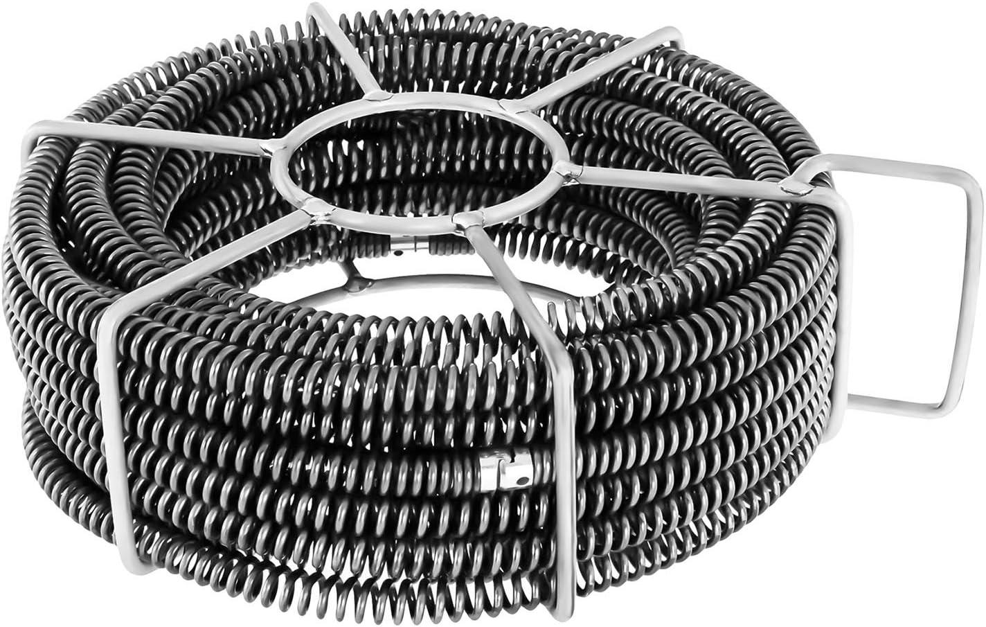 4 Spiralenelemente je 4,65 m, Anschluss: /Ø 32 mm, Gesamtl/änge 18,6 m, Rohrbreite: /Ø 50-200 mm MSW Motor Technics Rohrreinigungsspiralen Set MSW-CABLE SET 4