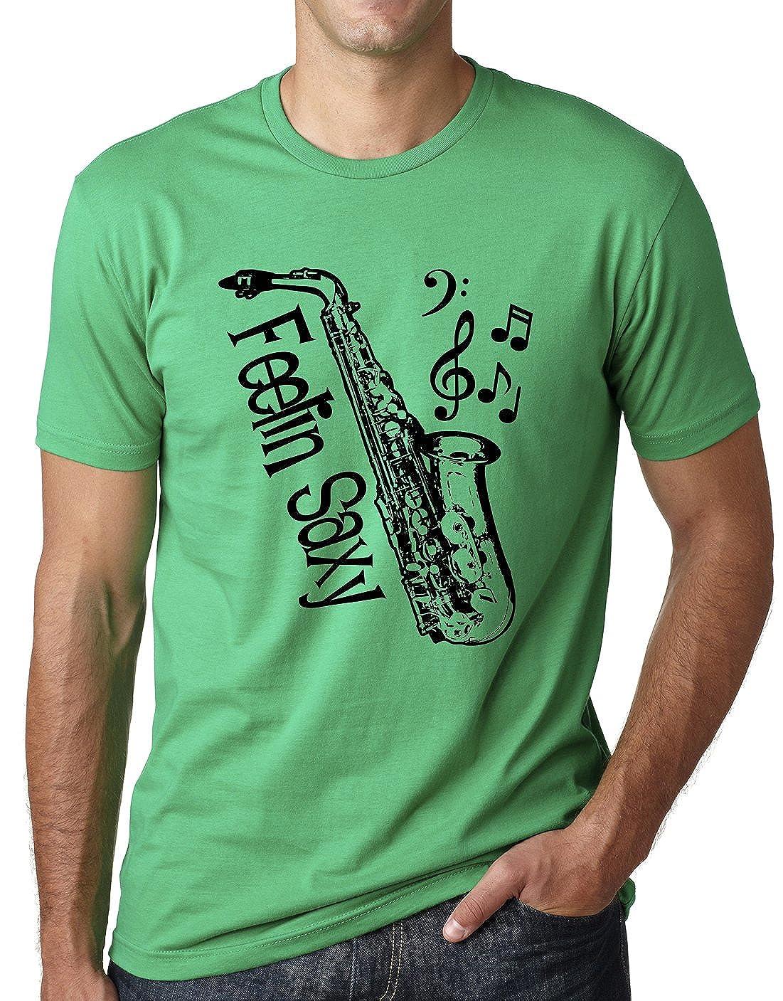 397bac9e Think Out Loud Apparel Feelin Saxy Funny Saxophone T-Shirt Sax Humor Tee    Amazon.com