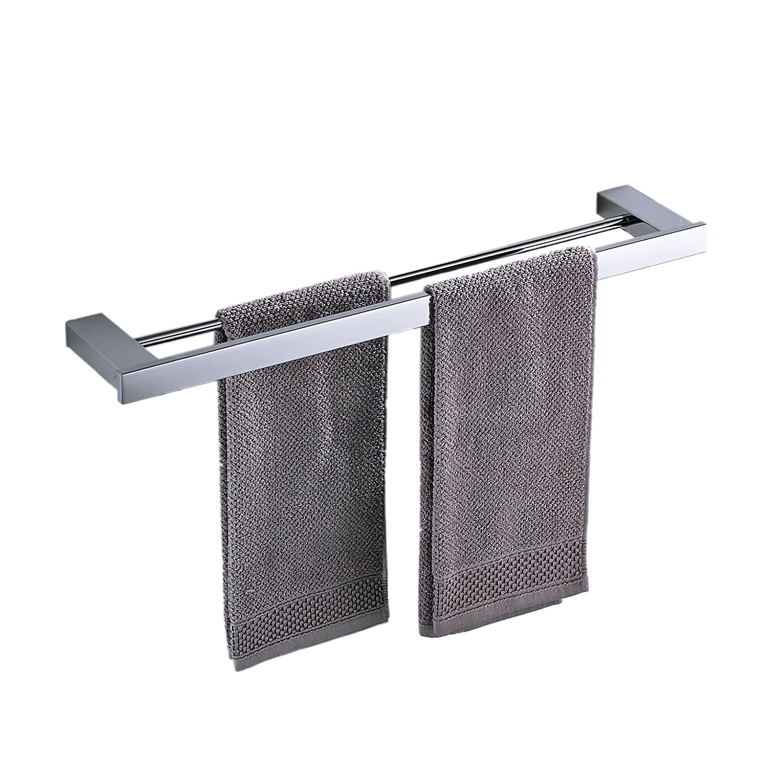 Beelee BA8003SC40 Bathroom Single Towel Bar Wall Mount Chromed Finish, SUS 304 Stainless Steel,400mm Ltd