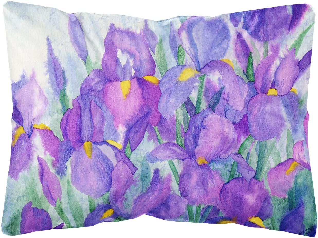 Caroline's Treasures IBD0256PW1216 Purple Iris Fabric Decorative Pillow