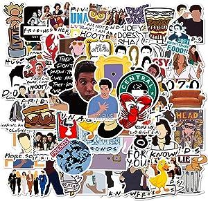 100PCS Friends Stickers Parks and Rec Stickers Waterproof Vinyl Stickers for Kids Teens Boys Adults Laptop Water Bottle Skateboard