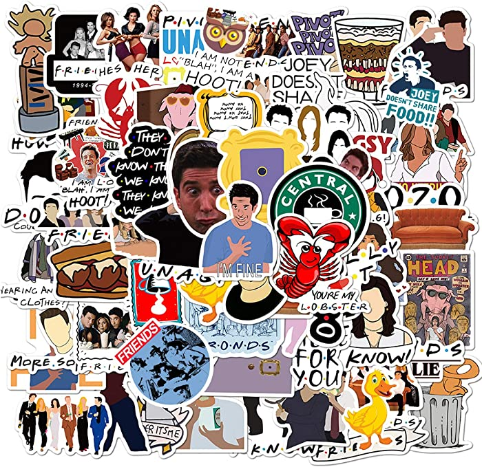 Top 10 100 Pcs Friends Laptop Sticker Pack
