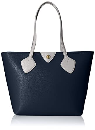 Amazon.com  Anne Klein Ella Zip Tote, Navy-Orange Blossom  Clothing 612717e742