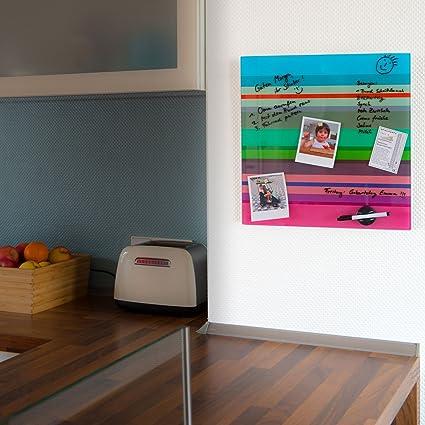 Remember Magnetwand Selva aus Glas 45 x 45 cm beschreibbar mit 4 Magneten