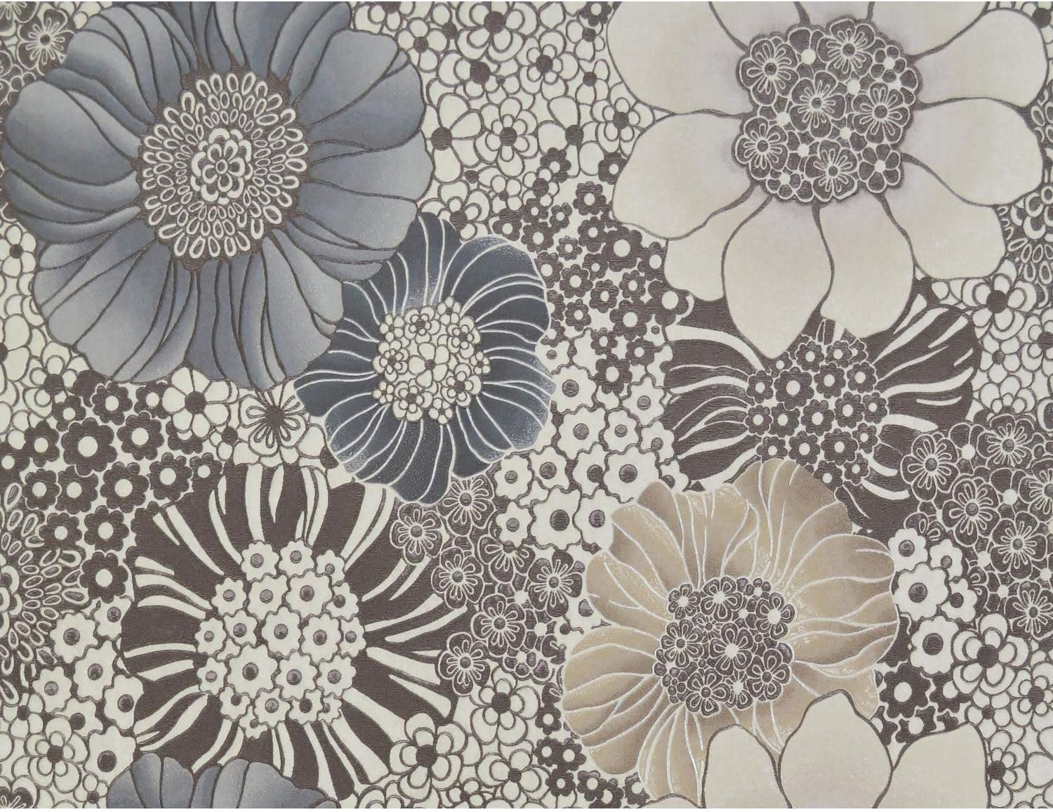 York Wallcoverings MI10004 MI1000 Anemones 54 3/5 Sq. Ft. Floral Non-Pasted Synthetic Wallpaper from The Missoni Home Collection