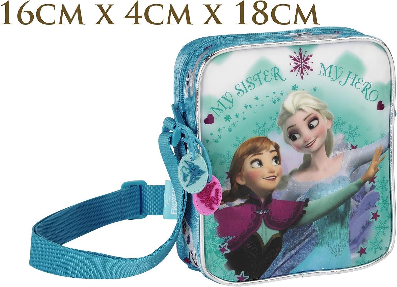 GIRLS DISNEY FROZEN ELSA /& ANNA CHARACTER SCHOOL SHOULDER BAG NEW GIFT