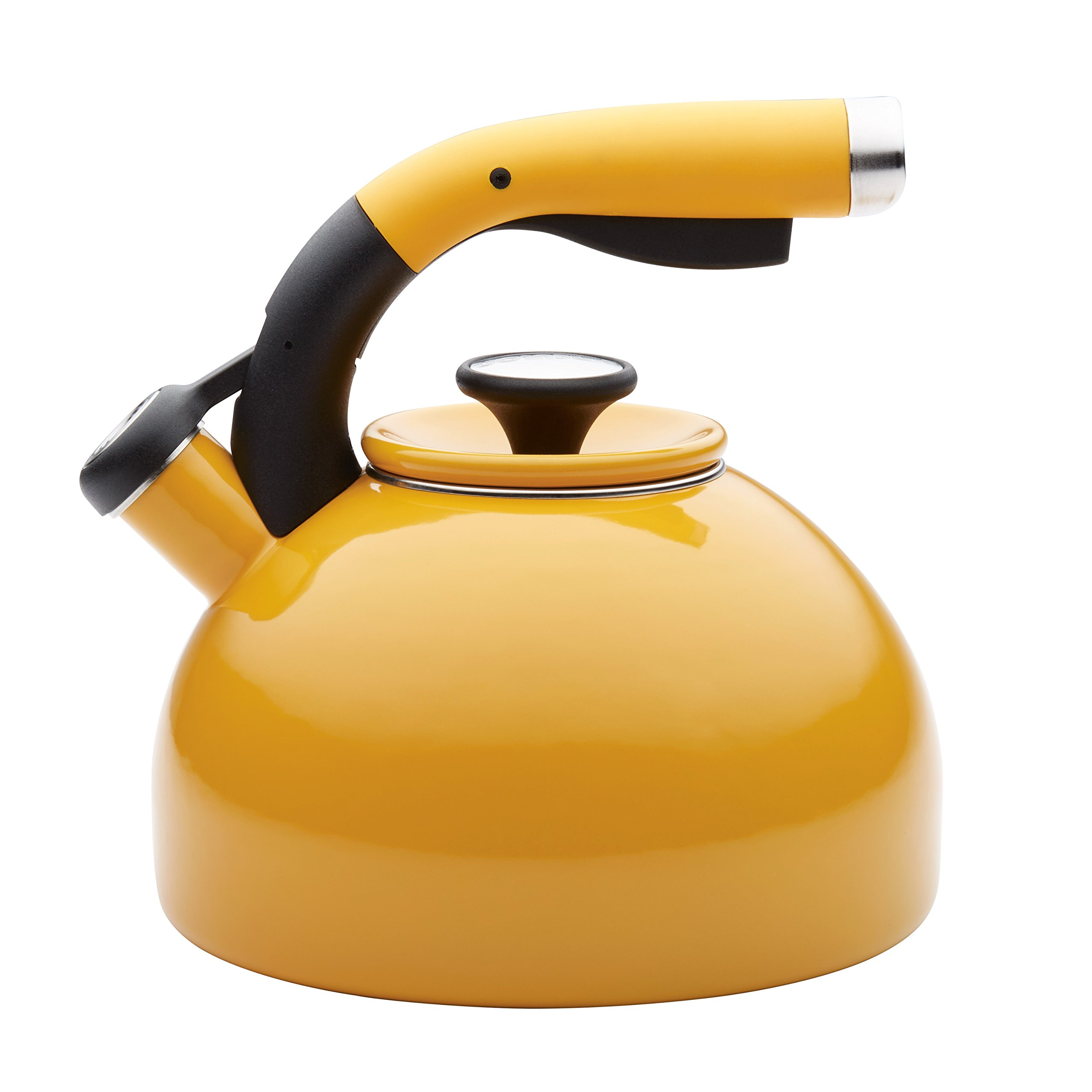 Circulon 2-Quart Morning Bird Teakettle, Mustard Yellow