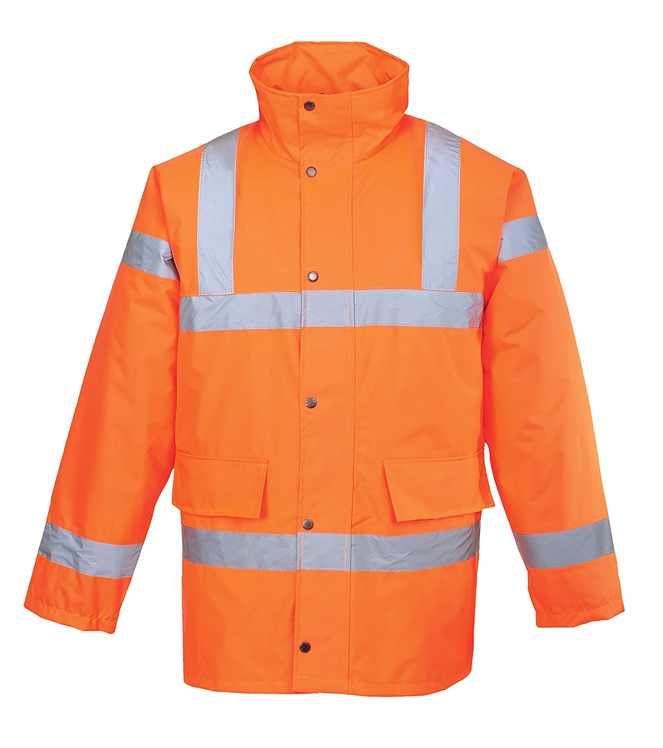 Portwest S460ORRXXXL Hi-Vis Traffic Jacket, Regular, Size 3X-Large, Orange Portwest Clothing Ltd