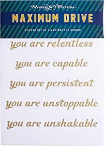 Sweepstakes: Meaningful Mantras Motivational Mirror Stickers for Bathroom