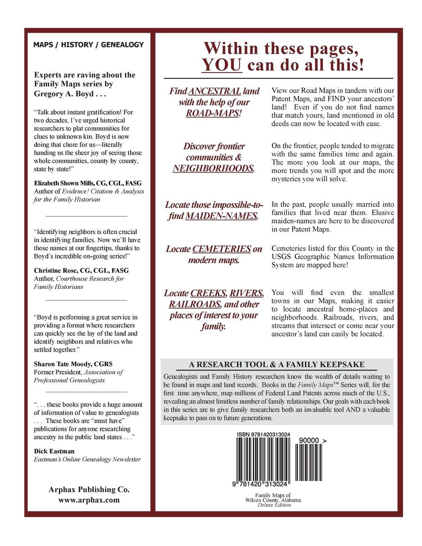 Alabama wilcox county catherine - Family Maps Of Wilcox County Alabama Deluxe Edition Gregory A Boyd J D 9781420313024 Amazon Com Books