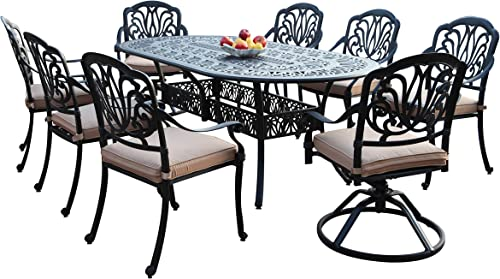 CBM Patio Elisabeth Collection Cast Aluminum 9 Piece Dining Set