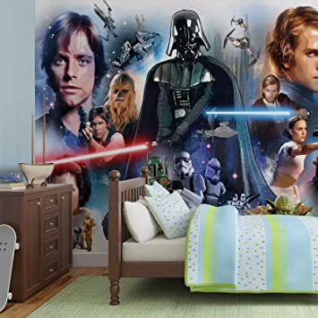 Papier Peint Photo Mural 1592p8 Collection Star Wars Xxl 368cm