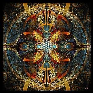 Sacred Geometry Tapestry | Tetrahedron Wall Hanging | Merkaba | Flower of Life | Sacred Geometry Art | Star Matrix
