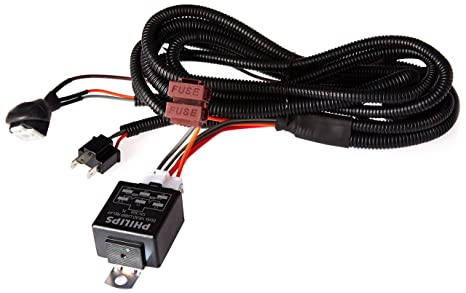 philips 12003xm h4 heavy duty relay wiring kit for high power (100/90w or  130/100w): amazon in: car & motorbike